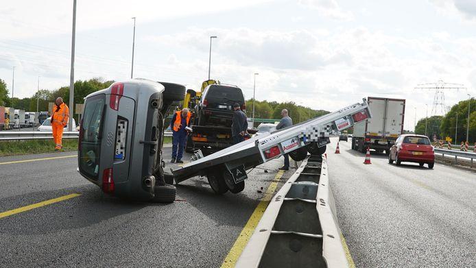 Dit was de eerste van 3 ongelukken op het traject aan de A1.