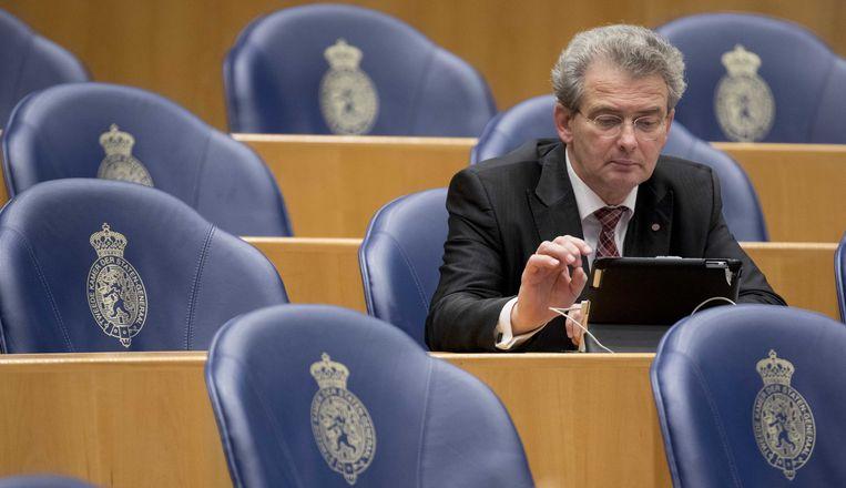 Roelof Bisschop van oppositiepartij SGP.