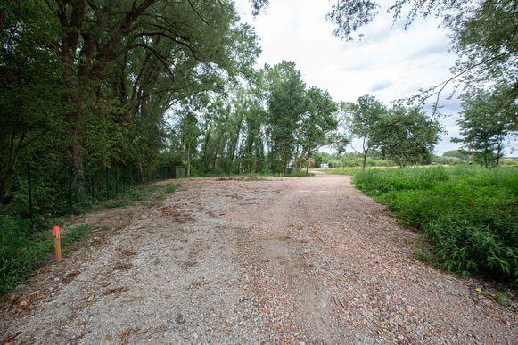 Het terrein werd voor de zomer al bouwklaar gemaakt.