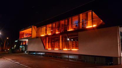 Gemeentehuis kleurt oranje