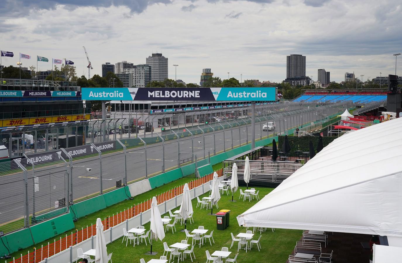 Het circuit in Melbourne,.