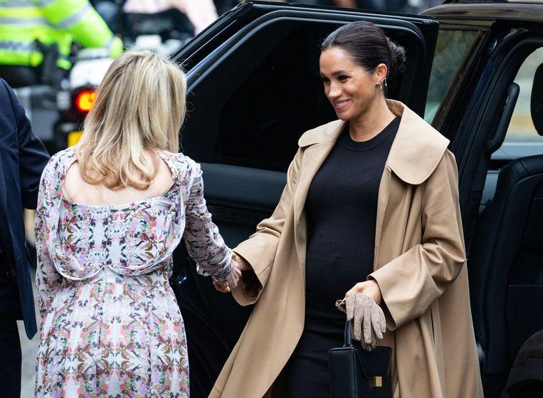 De zwangere hertogin donderdag.