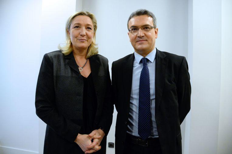 Marine Le Pen met Aymeric Chauprade in 2014.