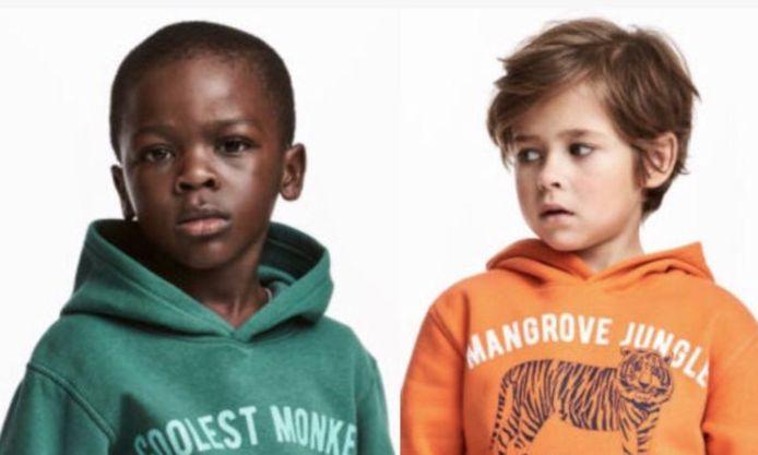 De bewuste foto die op de website van de modeketen stond. Intussen is het beeld weggehaald.
