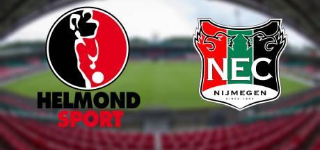 Live: NEC wil tegendoelpunten voorkomen uit bij Helmond Sport