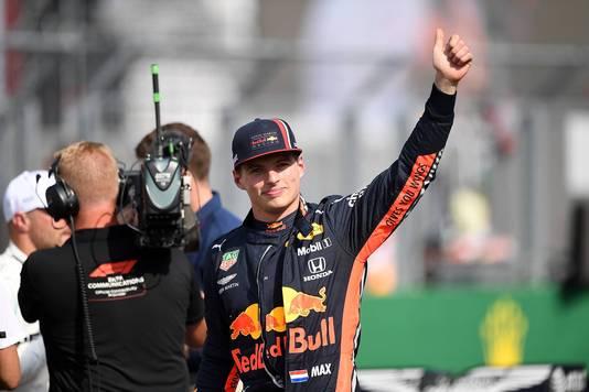 Max Verstappen stond in 2019 op pole in Hongarije.