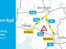 Drie gewonden bij ongeluk met meerdere voertuigen op A58 Moergestel, weg weer vrij
