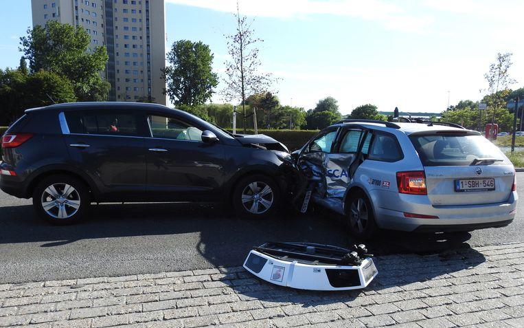 Pech voor het Gentse Mobiliteitsbedrijf: hun boetewagen, die 1.000 voertuigen per uur kan scannen, is na amper een maand vernield.