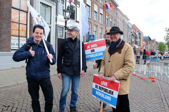 Een viertal republikeinen in Zwolle