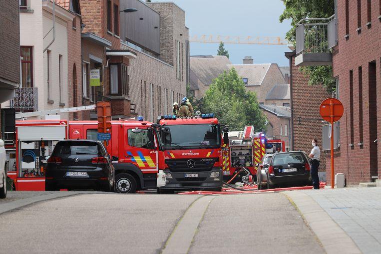 Brandweerpost Tongeren kwam massaal ter plaatse