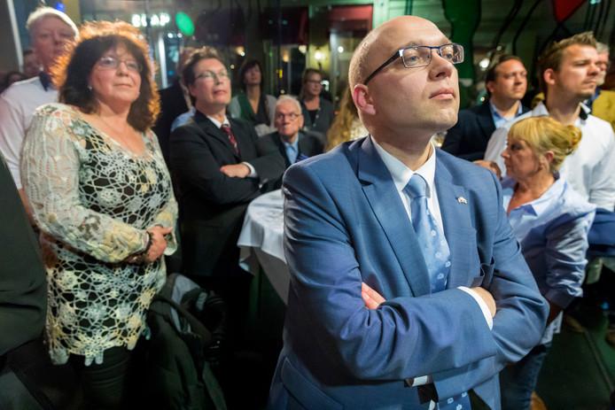 Alexander van Hattem op de uitslagenavond in Den Bosch.
