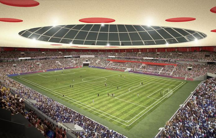 Het ontwerp van Ayoub Choban, dit stadion is geïnspireerd op een ufo.