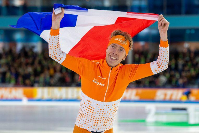 Jorrit Bergsma werd voor de vijfde keer Nederlands kampioen op de 10 kilometer.  Beeld Photo News