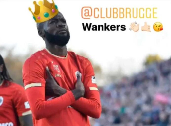 """Le """"roi Lamkel Zé"""" provoque le Club de Bruges sur les réseaux sociaux."""