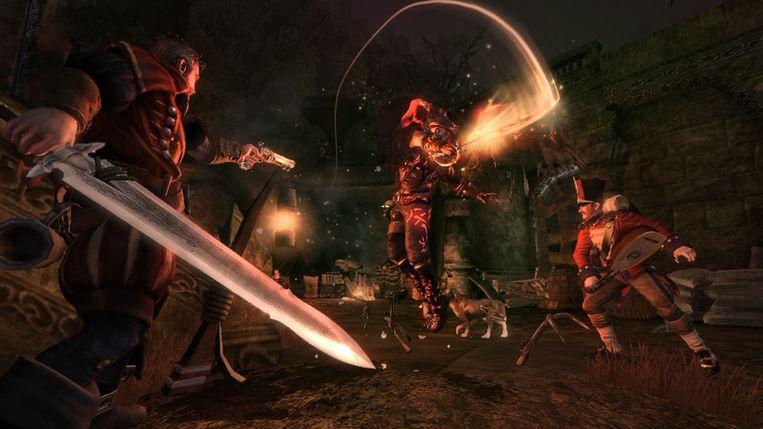 Het zwaard van het hoofdpersonage in Fable 3 groeit met diens prestaties mee. Beeld