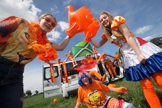 Oranjefans uit de regio Arnhem
