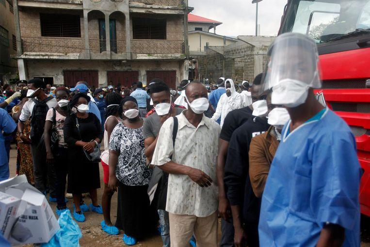 Door de overstromingen wordt gevreesd voor de uitbraak van ziektes als cholera, tyfus en diarree. Beeld ANP