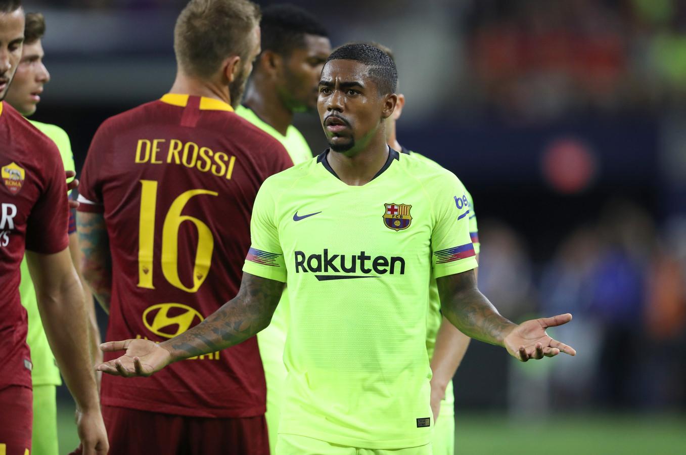 Het felgele uittenue van FC Barcelona.
