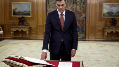 Sanchez legt eed af als nieuwe Spaanse premier