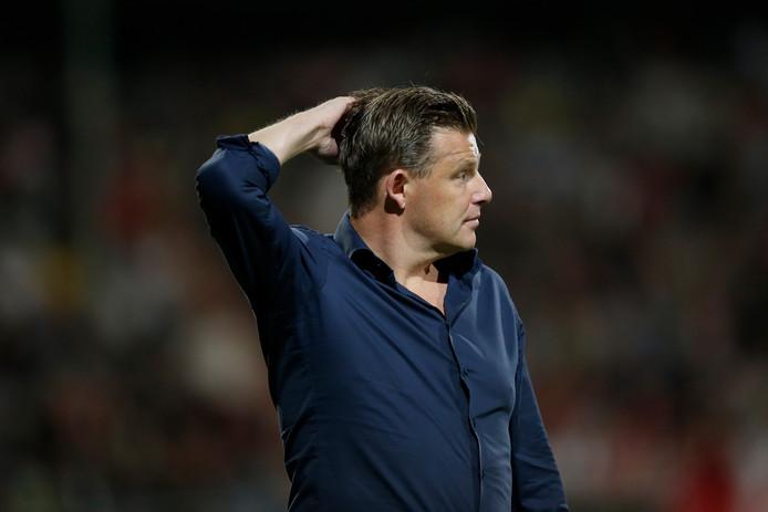 Coach John Stegeman of PEC Zwolle during FC Emmen - PEC Zwolle NETHERLANDS, BELGIUM, LUXEMBURG ONLY COPYRIGHT BSR/SOCCRATES
