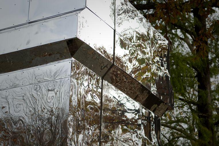 De installatie The Battle is Joined van Karyn Olivier, in het Vernon Park, Philadelphia. Beeld NurPhoto via Getty Images