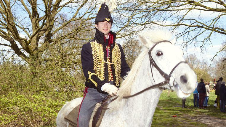 Eric Edelman (29), die de prins van Oranje speelt: 'Het is een hele eer. Je moet zorgvuldig omgaan met de uitbeelding van zo'n historisch figuur.' Beeld Daniel Cohen
