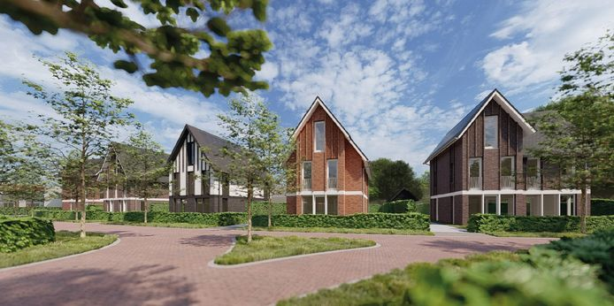 Zo ongeveer komen de villa's eruit te zien die aan De Parken refereren. Het is een voorlopig ontwerp; de definitieve tekeningen worden nu gemaakt.