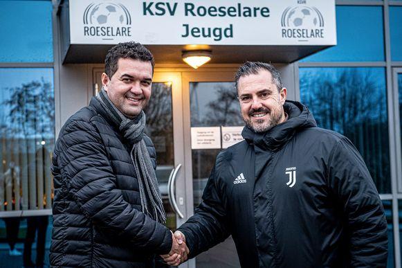 Marco Manso van KSV Roeselare en Dominique De Jonghe, manager van de Juventus Academy Vlaanderen, willen KSVR op de kaart zetten met de voetbalstage van de Juventus Academy Vlaanderen.