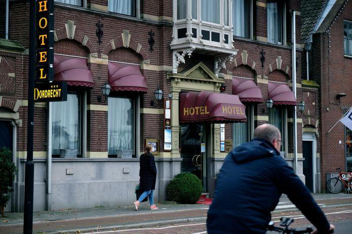 Hotel Dordrecht blijft nagenoeg leeg, nu alle restaurants gesloten zijn.