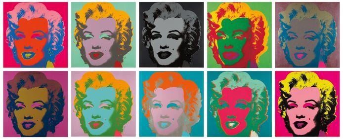 Sérigraphie sur papier de Marilyn Monroe par Andy Warhol.