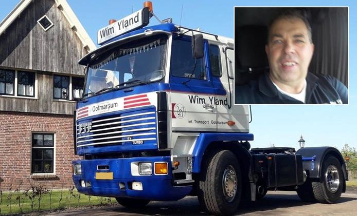 Wim Yland (inzet) en zijn truck