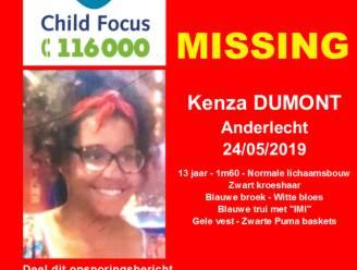 13-jarige Kenza Dumont vermist in Anderlecht