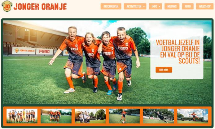 De website van Jonger Oranje.