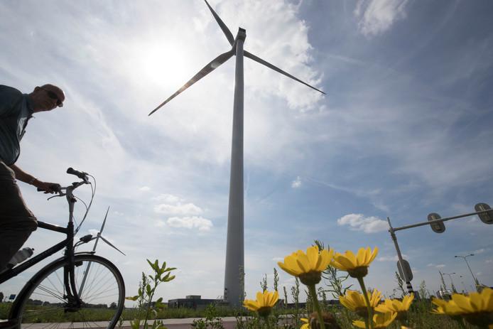 Een van de windmolens in Ede.