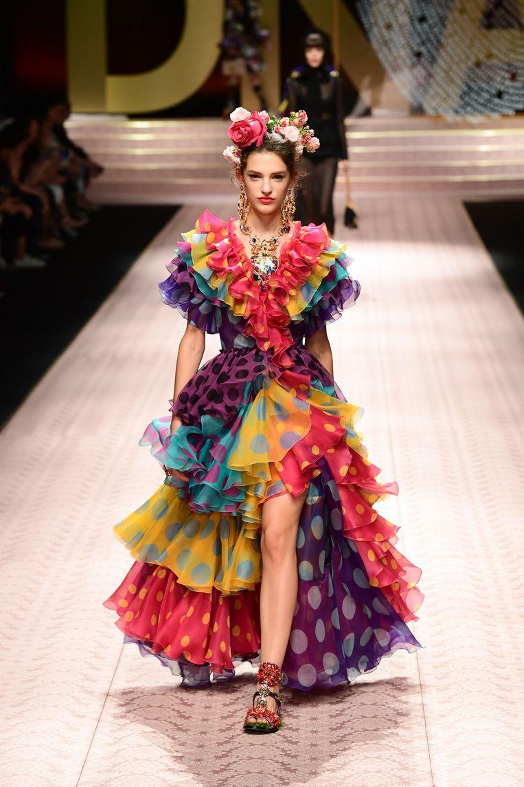 Een Flamenco-jurk met stippen.