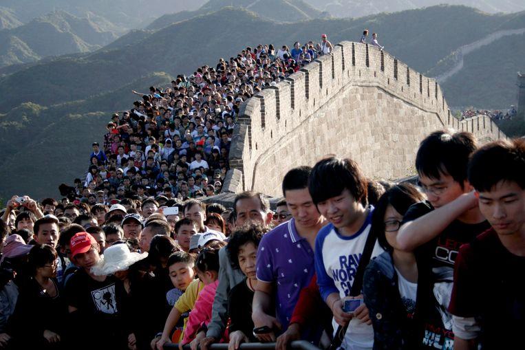 De Chinese Muur in hoogseizoen