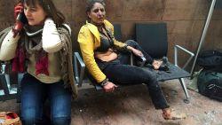 Stewardess zoekt man die haar hielp na aanslag