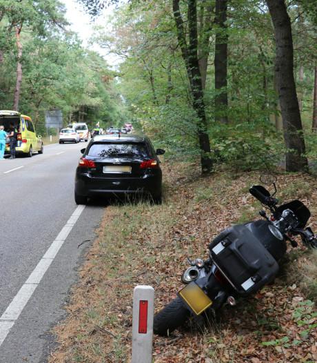 Motorrijder botst op ree in Zeist