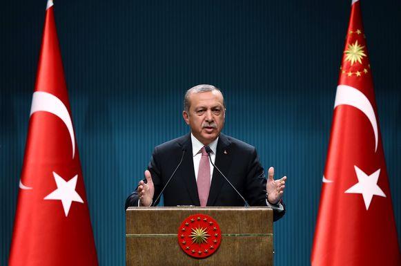 De Turkse president Recep Erdogan