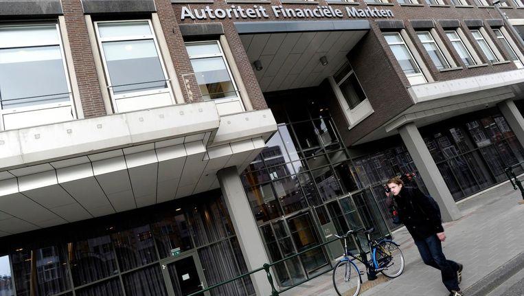 Het kantoor van de Autoriteit Financiële Markten op de Vijzelgracht in Amsterdam. Beeld anp