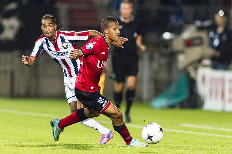 Cabral in actie tegen SC Heerenveen, op 4 oktober 2014. Beeld ANP