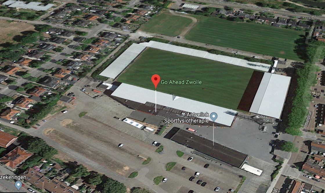 Go Ahead Eagles is op Google Maps omgedoopt tot Go Ahead Zwolle.