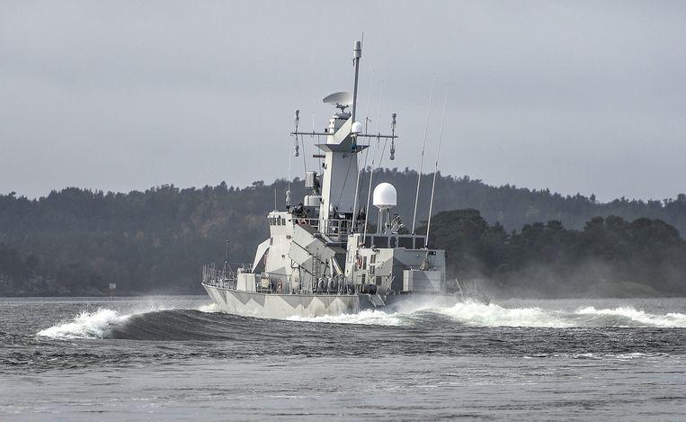 De Zweedse kustwacht patrouilleert sinds een paar dagen intensief. Beeld epa
