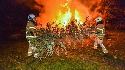 Weer veel volk op kerstboomverbranding