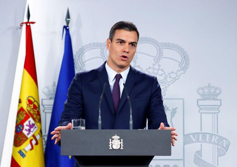 Spaans premier Pedro Sánchez schrijft nieuwe verkiezingen uit voor 28 april.