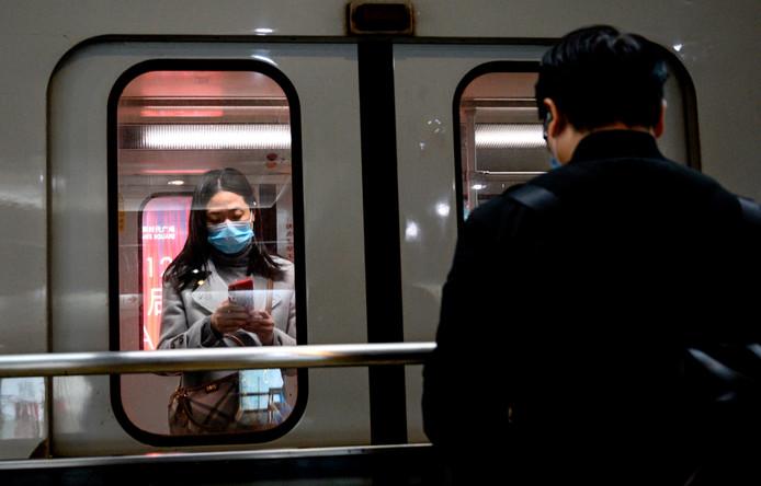 Le métro de Shanghai, ce mercredi.