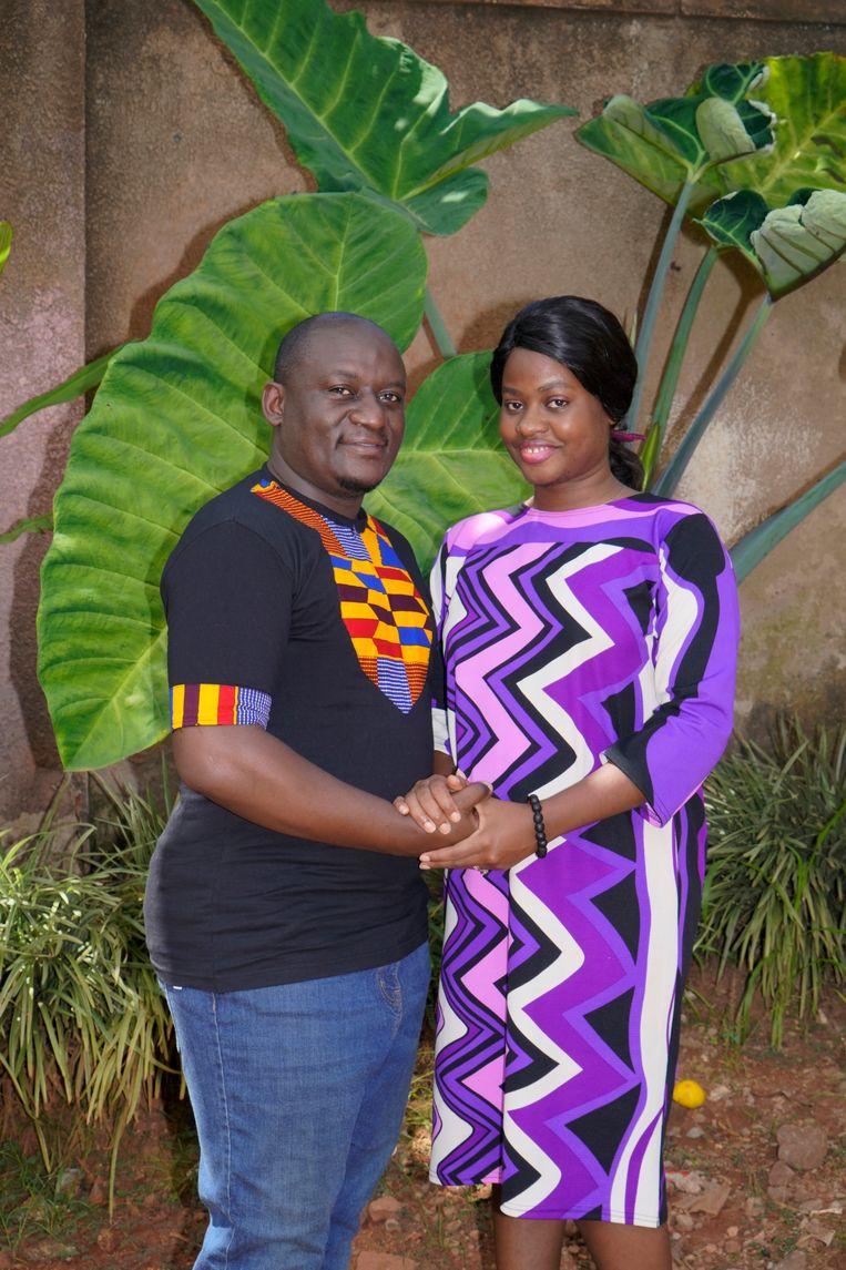 Herbert Byamukama en Marjorie Sanyu uit Kampala. Ze trouwden tijdens de lockdown. Beeld Michele Sibiloni