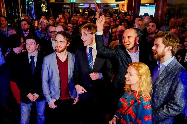 Publiek van de VVD tijdens de uitslagenavond van de Provinciale Staten- en Waterschapsverkiezingen. Beeld ANP