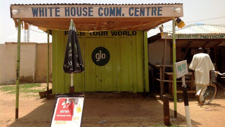 Winkeltjes in Damaturu, de hoofdstad van de Nigeriaanse deelstaat Yobe. (Archiefbeeld) Beeld Reuters