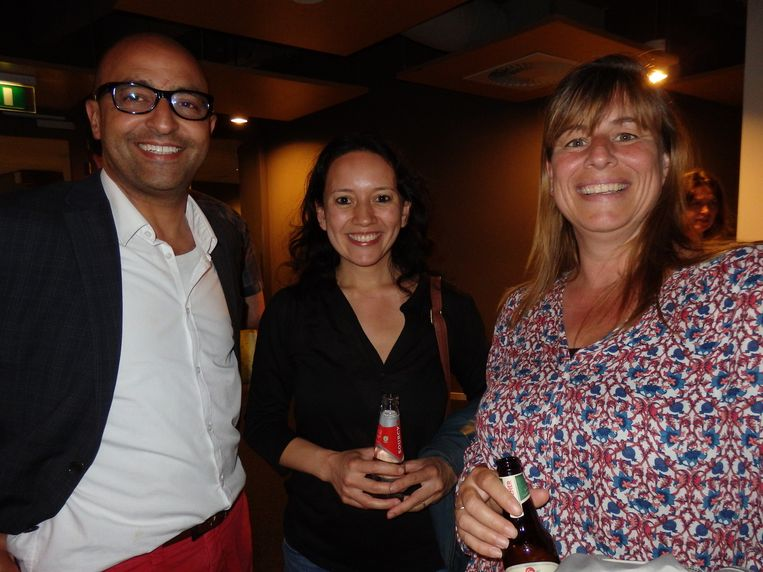 Mohamed Madhi (El Hizjra en de Najib Amhali Foundation), Merel von Schimmelmann (Nusantara Indah) en traiteur Tanja Kronenberg. Beeld Schuim